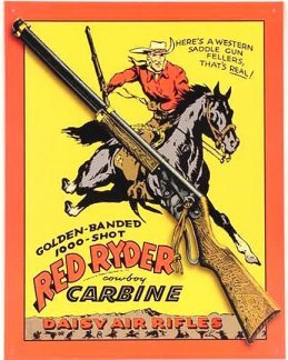 Red Ryder Daisy Air Rifle Tin Sign