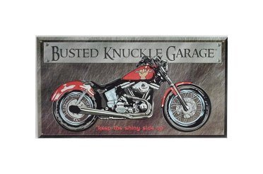 Busted Knuckle Garage - Keep the Shiny Side Up Tin Sign