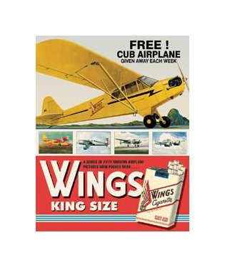 Wings Cigarettes - King Size Tin Sign