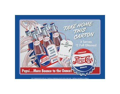 Pepsi Cola - Take Home This Carton Tin Sign