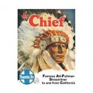 Santa Fe - The Chief - Famous All Pullman Streamliner Tin Sign