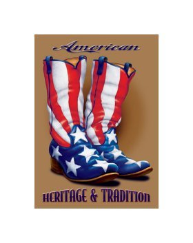 American Heritage and Tradition Tin Sign