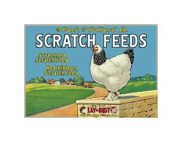 Scratch Feed - Red Ribbon Scratch Feed Tin Sign