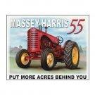 Massey Harris 55 - Put More Acres Behind You Tin Sign