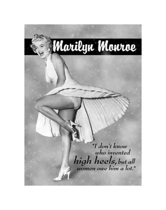 Marilyn Monroe - High Heels Tin Sign