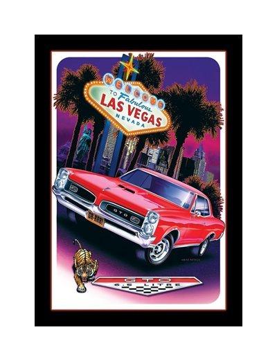Pontiac - GTO - To Fabulous Las Vegas Nevada Tin Sign