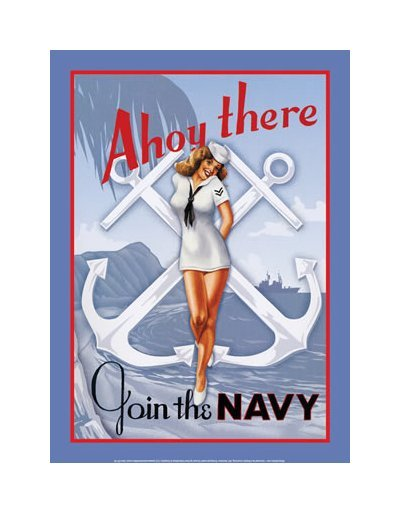 United States Navy - Ahoy There! Join the Navy Tin Sign