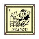 Jackpot - Metal Art Sign