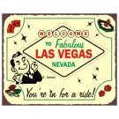 Welcome to Fabulous Las Vegas Nevada - We've Got Your Game - Metal Art Sign