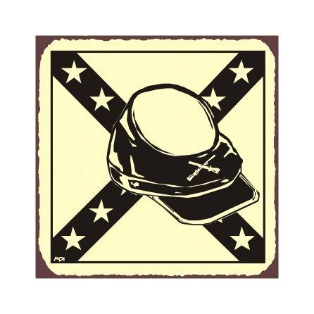Rebel Hat - Metal Art Sign