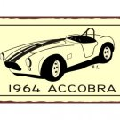 1964 Accobra - Metal Art Sign