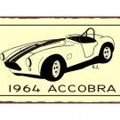 1964 Accobra - Metal Art Sign