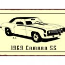 1969 Camaro SS - Metal Art Sign