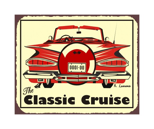 The Classic Cruise - Metal Art Sign