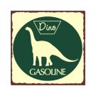 Dino Gasoline - Metal Art Sign
