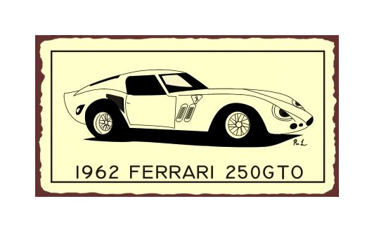 1962 Ferrari 250 GTO - Metal Art Sign
