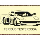 Ferrari Testerossa - Metal Art Sign