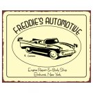Freddie's Automotive - Metal Art Sign