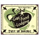 Gas Food Lodging - Metal Art Sign