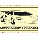Lamborghini Countach - Metal Art Sign