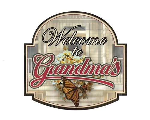 Welcome to Grandma's - Welcome Sign - Tin Sign