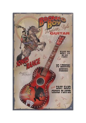 Bronco Boy Guitars Tin Sign