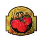 Welcome Apple - Welcome Sign -  Tin Sign