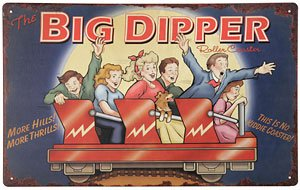 Big Dipper Roller Coaster Tin Sign