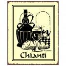 Chianti Wine Metal Art Sign
