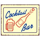 Cocktail Bar Metal Art Sign