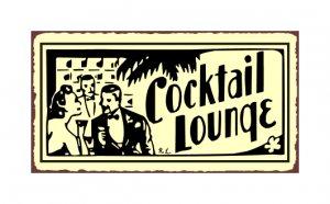 Cocktail Lounge Metal Art Sign