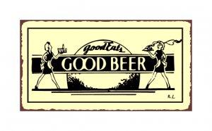Good Eats Good Beer Metal Art Sign