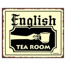 English Tea Room Metal Art Sign