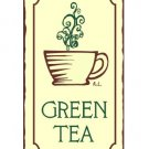 Green Tea Metal Art Sign