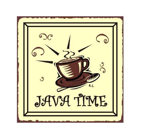 Java Time Metal Art Sign
