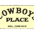 Cowboys Place Metal Art Sign