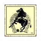 Horse in a Horseshoe Metal Art Sign