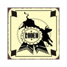 Rodeo Prize Bull Metal Art Sign