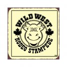 Wild West Rodeo Stampede Metal Art Sign
