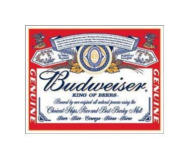 Budweiser Label Tin Sign