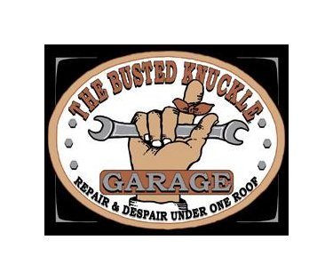 Busted Knuckle Garage - Repair and Despair Under One Roof Tin Sign