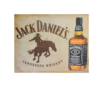 Jack Daniels - Bronco Tin Sign