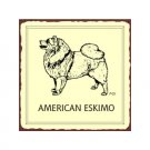 American Eskimo Dog Metal Art Sign