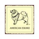 American Eskimo Dog Metal Art Sign