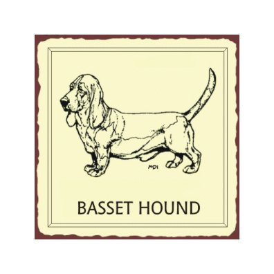 Basset Hound Dog Metal Art Sign