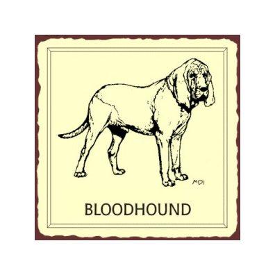 Bloodhound Dog Metal Art Sign