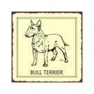 Bull Terrier Dog Metal Art Sign