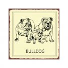 Bulldog Metal Art Sign
