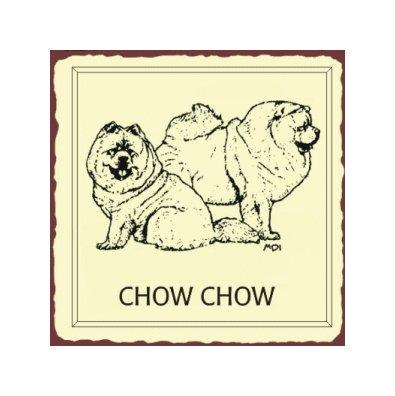Chow Chow Metal Art Sign