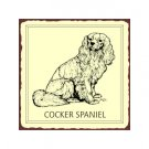 Cocker Spaniel Metal Art Sign